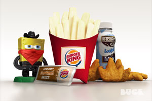 burger king apple fries spongebob fried grilled nuggets milk caramel sauce frypod